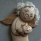 """Ангел """"Пряник"""" с деткой (подвесной)"""