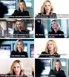 """I'm Cat Grant, known on Earth as the Queen of all Media"" #Supergirl #Season2 #2x21"
