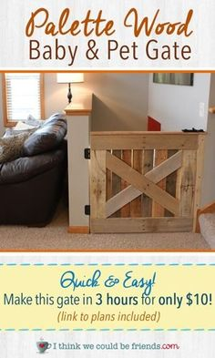 DIY Wooden Palette Baby & Pet Gate! #DIY #homestaging