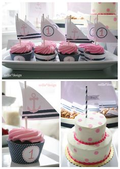 Adorable nautical girl baby showers ideas! Pink and blue!  #babyshower