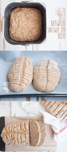 Vegan Spelt Buckwheat Sunflower Seed Bread