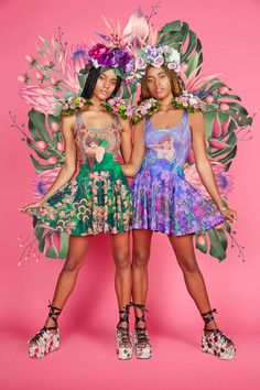 Mucha Amethyst vs Emerald Inside Out Dress ($170AUD)  › AVANT-GARDEN Collection › Black Milk Clothing