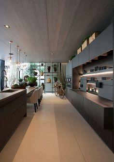 Open Plan Kitchen Living Room, Home Decor Kitchen, Home Kitchens, Modern Kitchens, Decorating Kitchen, Kitchen Small, Interior Decorating, Best Kitchen Designs, Modern Kitchen Design