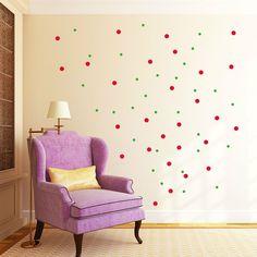 Wandtattoo Aufkleber Punkte Konfetti Polka Dots  Bubble Kreise 130 Stk.10999