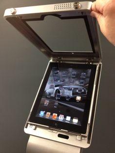 Modular iPad Kiosk locks iPad in place