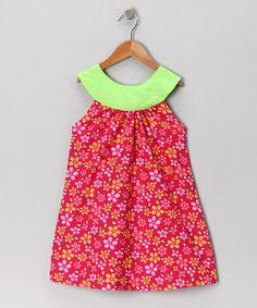 Pink & Green Yoke Dress - Toddler & Girls by Moo Boo on #zulilyUK today!