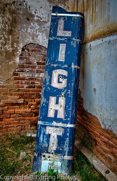 Old LIGHT sign - featured on Living Vintage's Friday Favorites