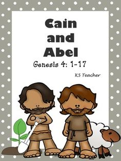 Cain and Abel Sunday School Crafts For Kids, Sunday School Classroom, Bible School Crafts, Bible Crafts For Kids, Sunday School Lessons, Bible Story Crafts, Bible Stories For Kids, Bible Lessons For Kids, Cain Y Abel