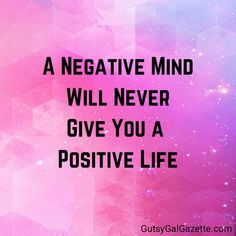A Negative mind will never give you a positive mind. #quotes #inspirationalquotes