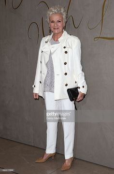 Julie Walters arrives for the premiere of the Burberry Festive Film at Burberry on November 3, 2015 in London, England.