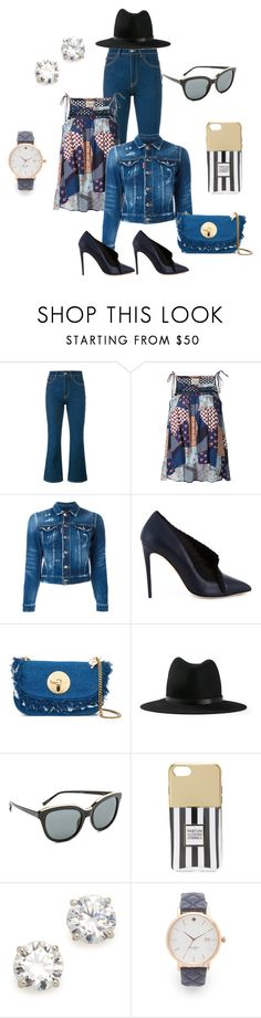 """""""Denim shirt..."""" by jamuna-kaalla ❤ liked on Polyvore featuring Attico, Sea, New York, Dsquared2, Olgana, See by Chloé, rag & bone, N°21, Iphoria, Kenneth Jay Lane and Kate Spade"""