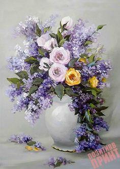 Maher Art Gallery: The artist Anca Bulgaru Art Floral, Watercolor Flowers, Watercolor Art, Flower Vases, Flower Arrangements, Still Life Flowers, Botanical Art, Beautiful Paintings, Vintage Flowers