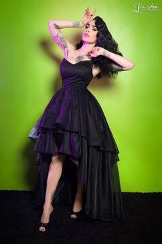 Gothic Glamour Dress in Black