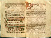 BnF: QUESTIONS ET LOCUTIONS SUR L'HEPTATEUQUE (N. de France, LAON) 750-770. Aigüe et artificielle, l'écriture a-z de Laon est une stylisation de l'écriture mérovingienne. Pratiquée au 8°s dans le scriptorium de la cathédrale de Laon, elle se distingue par la graphie particulière des lettres a (2 guillemets accolés) et z.