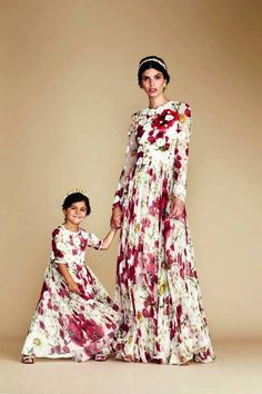 Dolce&Gabbana special evening capsule collection for mammy & daughter Fashion Kids, Fashion Outfits, Trendy Fashion, Fashion Trends, Mother Daughter Fashion, Dolce And Gabbana Kids, Matching Outfits, Kids Outfits, Girls Dresses