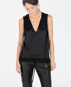 Image 1 of TIE-WAIST TOP from Zara