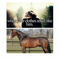 When your clothes smell like him