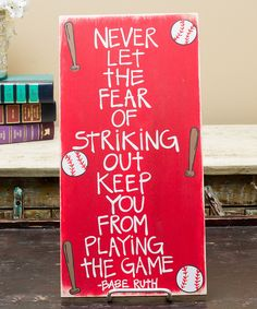 Look at this Red Babe Ruth Wall Sign on #zulily today!