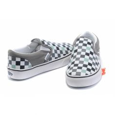 Vans Shoes Blue/Green Womens/Mens Checkerboard Slip-On Classic Canvas Sneakers - €40.20 : DXsneaker