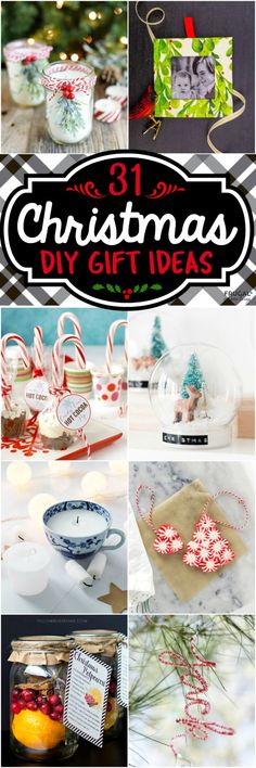 31 DIY Christmas Gift Ideas - Looking for something creative to gift this holiday season. Take a look at Part 2 of our homemade Christmas Gift Ideas.