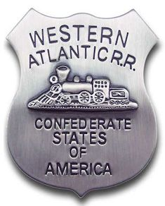 Old Trains, Vintage Trains, Fire Badge, Law Enforcement Badges, Train Car, Train Travel, Old Train Station, Western Store, Confederate States Of America