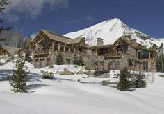 7th most expensive home in the world -Blixseth's The Pinnacle in Montana. The mansion has indoor/outdoor pool, amazing views, a private chair lift directly from the house to the ski resort.