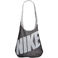 Nike Graphic-Print Tote Bag ($35) ❤ liked on Polyvore featuring bags, handbags, tote bags, sport, color block purse, reversible tote bag, colorblock handbags, sports tote bag and nike tote
