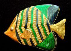 Kenneth J Lane KJL Fish Brooch Vintage от RenaissanceFair на Etsy