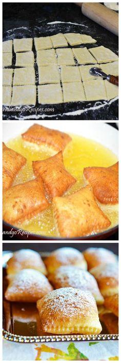 Fantastic Puffy Beignets – Ponchiki Recipe The post Puffy Beignets – Ponchiki Recipe… appeared first on Recipes . Beignet Recipe, Baking Recipes, Dessert Recipes, Donut Recipes, Dessert Bread, Delicious Desserts, Yummy Food, Beignets, Russian Recipes