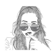 We Heart It ❤ liked on Polyvore featuring art, drawing, drawings, filler, outline, doodle and scribble