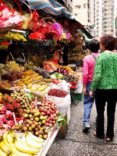 Street markets in Hong Kong are held all the days except few traditional Chinese holidays like Chinese New Year. Stalls opened at two sides of a street were required to have licenses issued by the Hong Kong Government. In Hong Kong there are street markets of various kinds such as fresh foods, clothing, cooked foods, flowers, and even electronics.    Yin Chong Street Fresh Food Street Market  Sham Shui Po