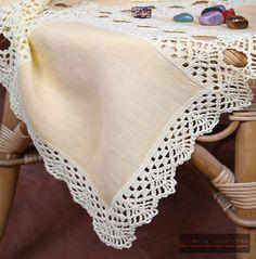 Puzzle crochet tablecloth