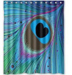 New Arrival Freeshipping Peacock Unique Shower Curtain 60 x 72 inch Bath Curtain #ArtsCraftsMissionStyle