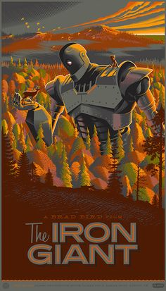 Laurent Durieux Retro Movie Posters - The Iron Giant