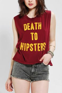 Truly Madly Deeply Death To Hipsters Muscle Tee