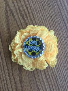 A personal favorite from my Etsy shop https://www.etsy.com/listing/503427146/iowa-hawkeyes-flower-hair-clip-with