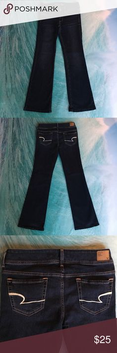 American Eagle stretch 🌷Original Boot jeans🌷 Gorgeous dark wash 🌷American eagle jeans🌷 Size 8 regular 🌷 original boot🌷Amazing condition 💗 American Eagle Outfitters Jeans Boot Cut