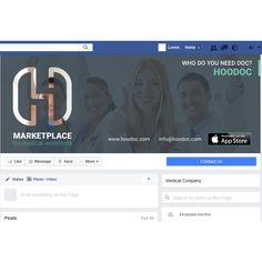 Freelance Job - facebook/linkedin cover for hoodoc.com by S4D