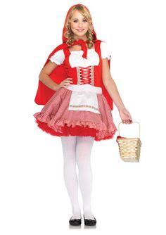 Lil' Miss Red Riding Hood Junior Teen Tween Girls Halloween Costume Brand New | eBay