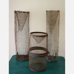 Metal Fishing Traps Set Of 3 now featured on Fab.