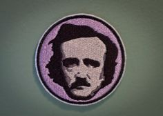 Edgar Allen Poe  Embroidered Ironon Poe Patch  Author by OKsmalls, $10.00