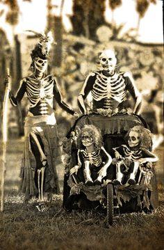 Dia de muertos such a cool family costume!
