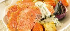 Paahdettua kirjolohta ja uunijuureksia   Pääruoat   Reseptit – K-Ruoka Good Food, Pork, Turkey, Meat, Lovers, Kale Stir Fry, Turkey Country, Healthy Food, Pork Chops