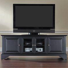 Crosley LaFayette 60 in. Low Profile TV Stand - Black - KF10005BBK, Durable