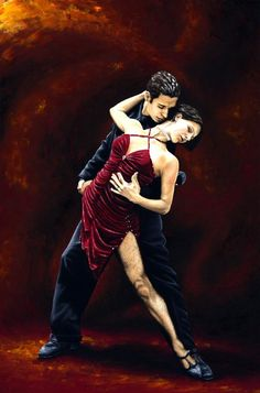 The Passion of Tango fine art oil painting