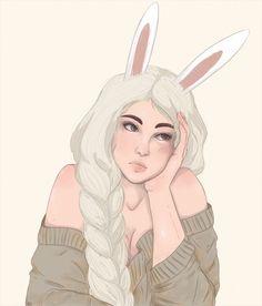 Ana Guarin // bunny ears illustration