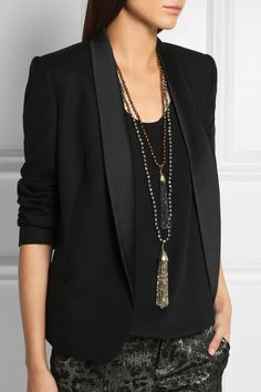 ROSANTICA Himalaya set of two hematite necklaces €555.00 http://www.net-a-porter.com/products/505016