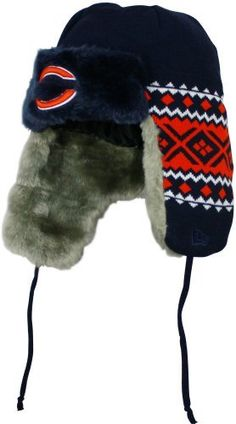NFL Chicago Bears Team Trapper Knit Cap by New Era. $24.99