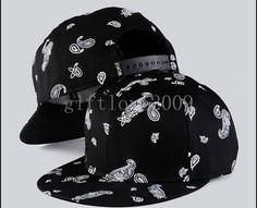 Black-Trukfit-Bandanna-Baseball-Snapback-Hat-Hip-Hop-Bboy-KPOP-Cap-Adjustable