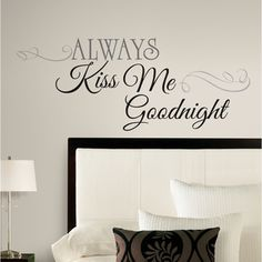 Always Kiss Me Goodnight Peel & Stick Wall Decals, Home Décor   Walmart Canada Online Shopping